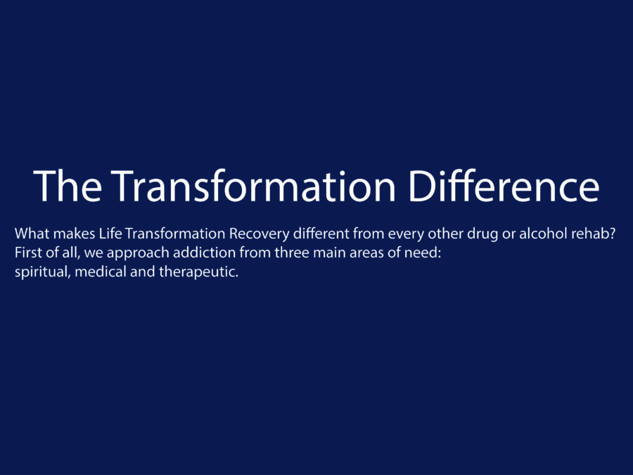 life transformation caption explaining differences in christian non 12 step program