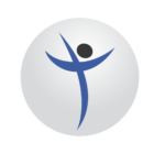 christian addiction treatment center round logo of man and cross shape
